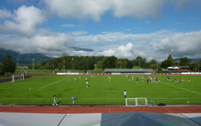El Atlético prepara la Supercopa en los Alpes italianos